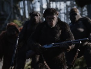 An image from War for the Planet of the Apes