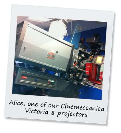 One of our film projectors, Alice